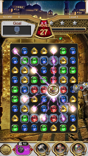 Jewels Magic Lamp : Match 3 Puzzle apkpoly screenshots 12