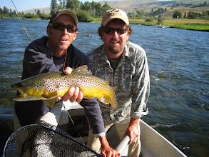 "Photo: Brian Flechsig and guide Steve ""Skinny"" Mock on the Slide Inn trip 2010"