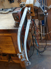 Photo: I had to build a new bending ramp so I could do this gentler bend for disk brakes.