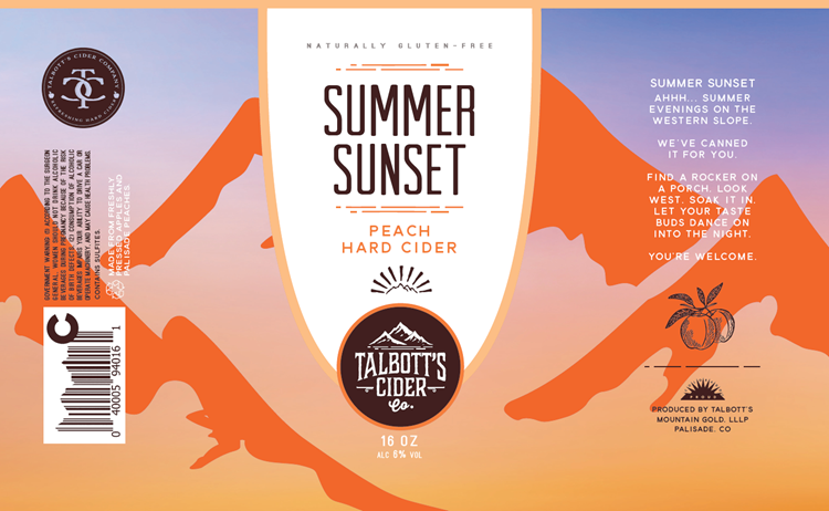Logo of Talbott's Summer Sunset Peach Hard Cider