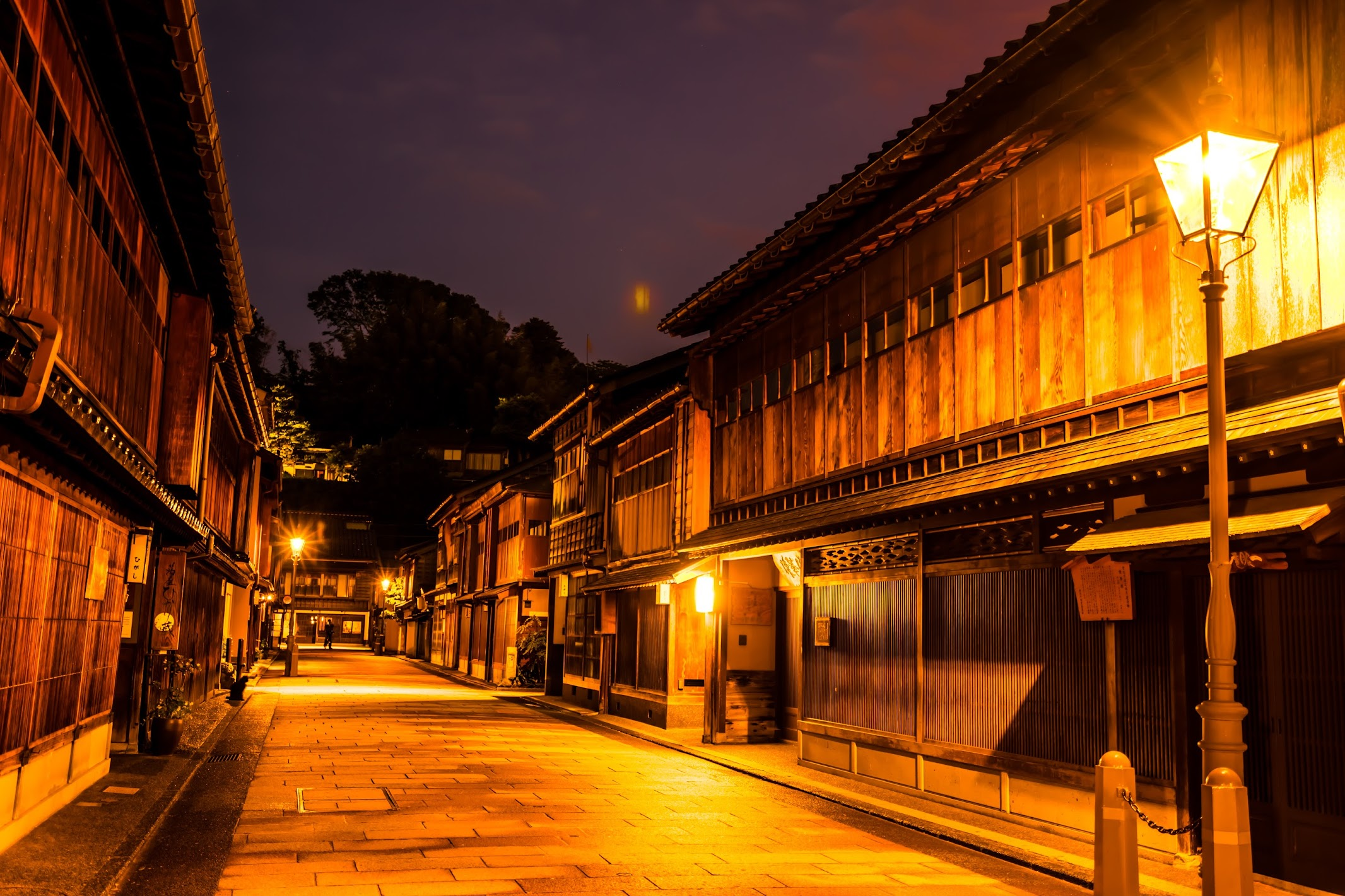 Kanazawa Higashi Chaya District Light-up3