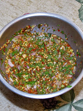 Photo: hot-and-sour dipping sauce for the lemon grass pork