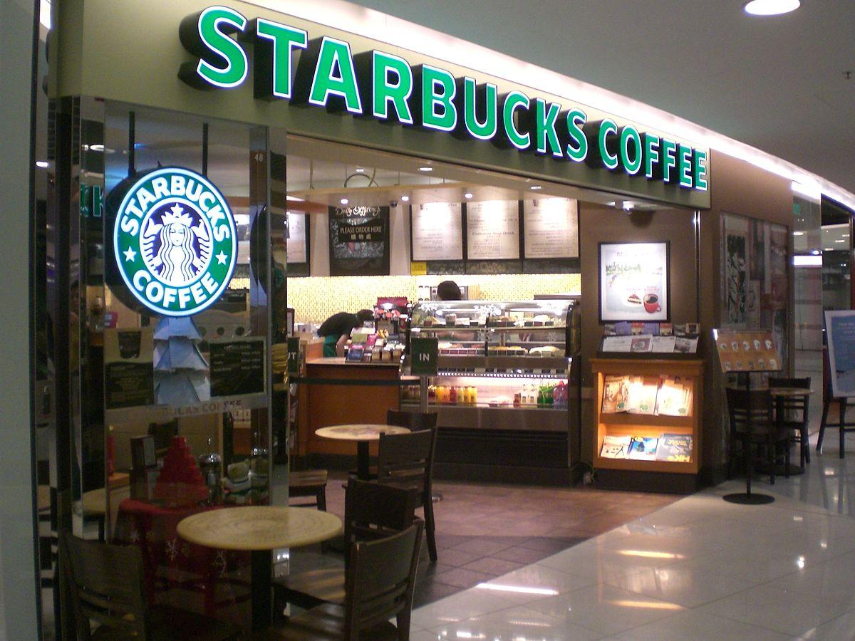 Starbucks coffee shop in Hong Kong