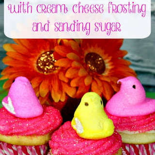 Peeps Cupcake with Cream Cheese Frosting.