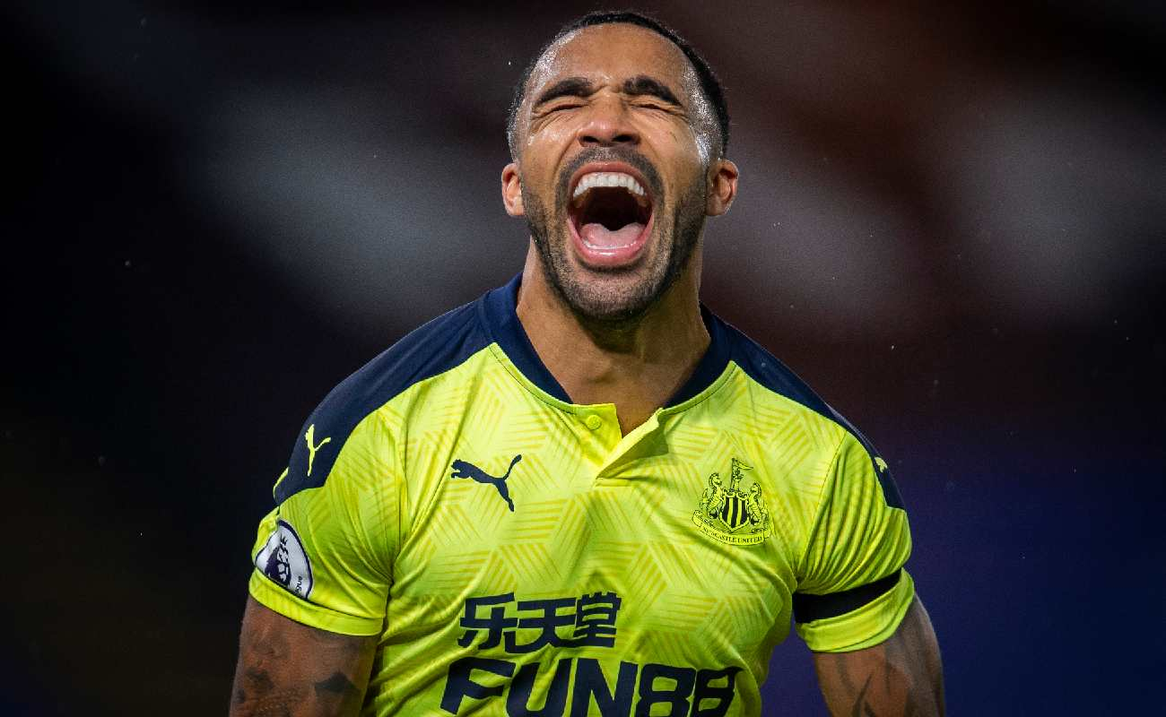Alt: Callum Wilson of Newcastle celebrates after scoring a goal - Photo by Newcastle United/Getty Images