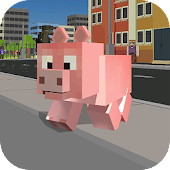 Blocky City Pig Simulator 3D