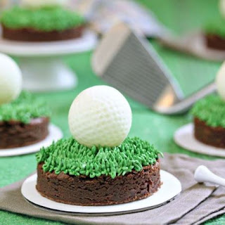 Golf Ball Truffles and Putting Green Brownies.