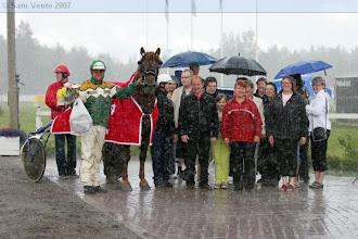 Photo: Suomenhevosten Veeruska-ajon voittaja 8.7.2007 Pirttilän Fantus/Teemu Okkolin