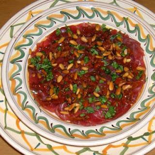 Tv Dinners and Tuna Carpaccio Recipe