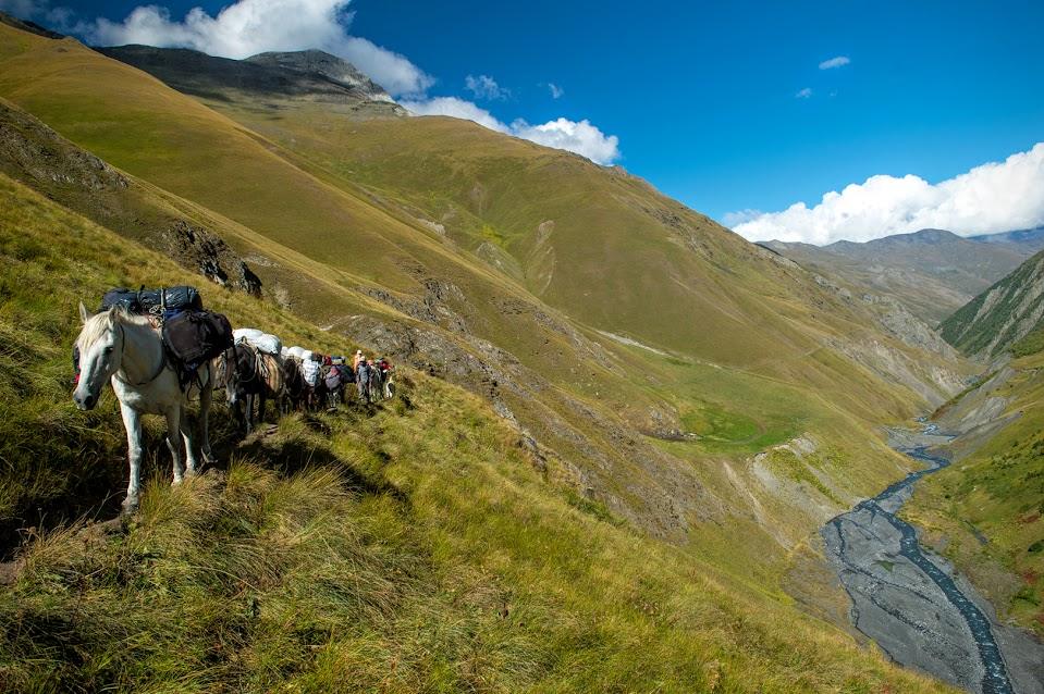 Kelionė po Tušetijos kalnus Gruzijoje