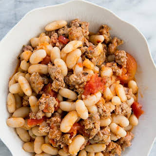 White Beans and Sausage.
