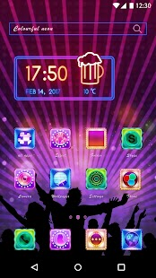 Neon Light Theme - Neon Icons & Wallpaper - náhled