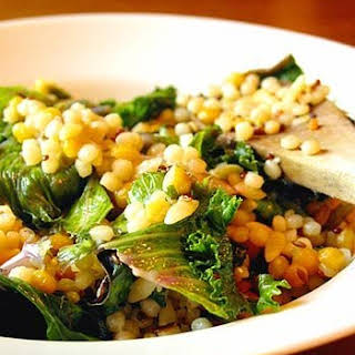 Israeli Couscous with Chard.
