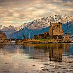 Eilean Donan Castle by Chris Boulton - Landscapes Travel ( scotland, reflection, scottish, castle, loch, scenic, landscape, highlands )