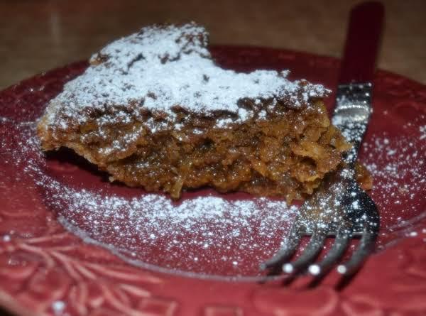 Mom-mom Bessie's Molasses Coconut Pie Recipe
