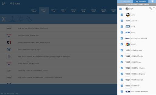 Live Sports TV Listings Guide 2.83 Screenshots 8