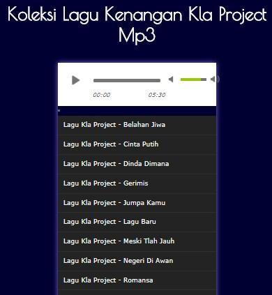 mp3 kla project album pasir putih