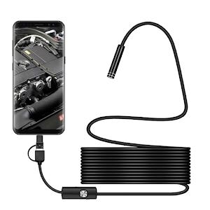 Camera endoscop 2 in 1 pentru Android si Windows, waterproof, 5 metri