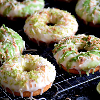 Glazed Lime Donuts with Toasted Coconut Recipe