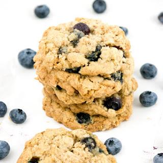 Fresh Blueberry Oatmeal Cookies.