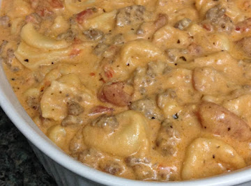 Crockpot Cheese Tortellini And Sausage Recipe