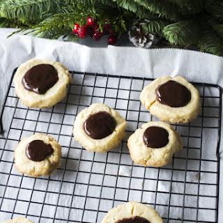 Cardamom Chocolate Shortbread Cookies