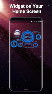 Phone Dashboard Weather Widget with Battery - náhled
