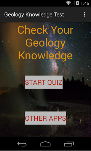 Geology knowledge test