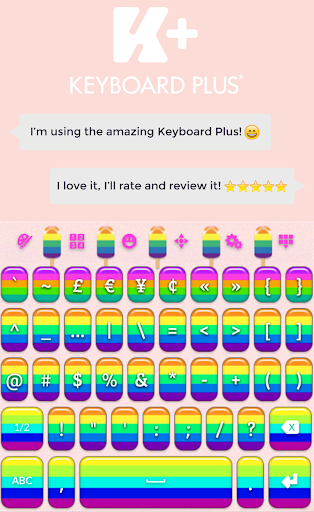 Rainbow Pop Keyboard