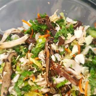 Chinese Chicken Salad with Roasted Portobello Mushrooms.