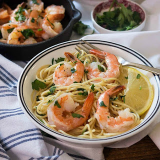 Quick, Low Cal Shrimp Scampi