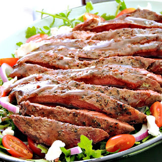 Grilled Steak Salad with Balsamic Cabernet Dressing