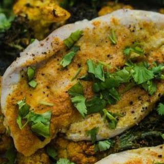 Turmeric Cauliflower Broccoli Chicken.