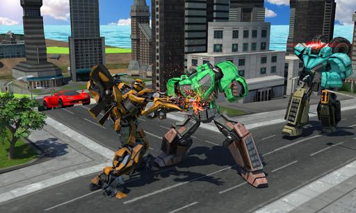 Batalha do robô futurista