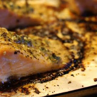 Oven-Baked Lemon Pepper Salmon.