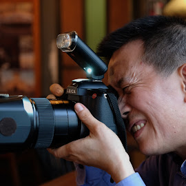 The smiling Cameraman by Beh Heng Long - People Professional People ( camera,  )