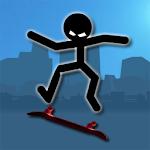 Stickman Skate Icon