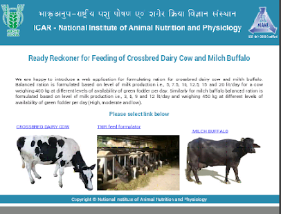 buffalo feeding chart: Icar nianp feed chart android apps on google play