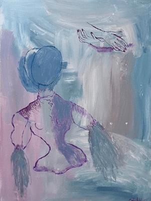 forever-ma-bien-aimée-lover-lovers-couple-in-love-amour-amoureux-masque-mask-pour-toujours-sophielormeau-lormeau-artiste-peinture-french-artist-art-tableau-toile-painting-peinture-canvas-grey