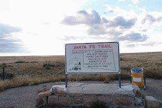 Photo: Heading W to Black Mesa State Park, we crossed the Santa Fe Trail cutoff again.