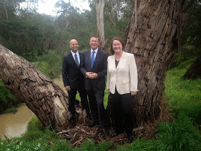 Photo: With Premier Denis Napthine and Liberal candidate for Eltham Steven Briffa at Diamond Creek