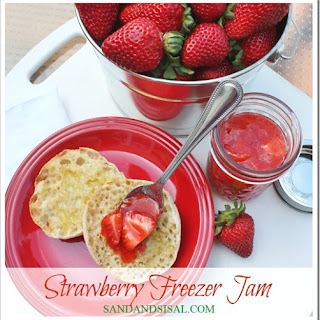 Strawberry Freezer Jam.