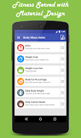 Screenshot of Body Mass Index - Weight loss