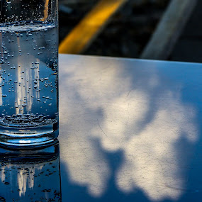 water and cloud by Alen Zita - Food & Drink Alcohol & Drinks ( croatia, glass, clouds, water, table )