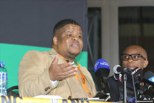 David Mahlobo at the ANC national policy conference in Johannesburg Picture: ZINGISA MVUMVU