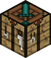 The Diamond Sword's not real; it's just a cool looking crafting table