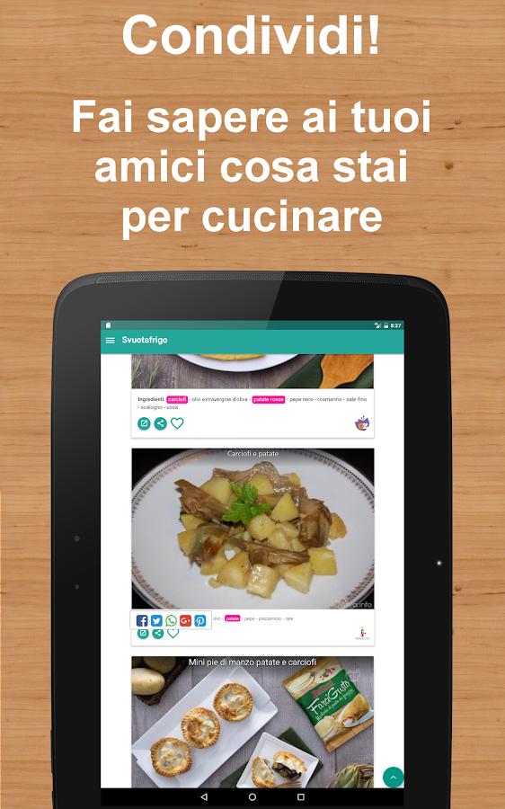 Svuotafrigo - cerca ricette dagli ingredienti - App Android su ...