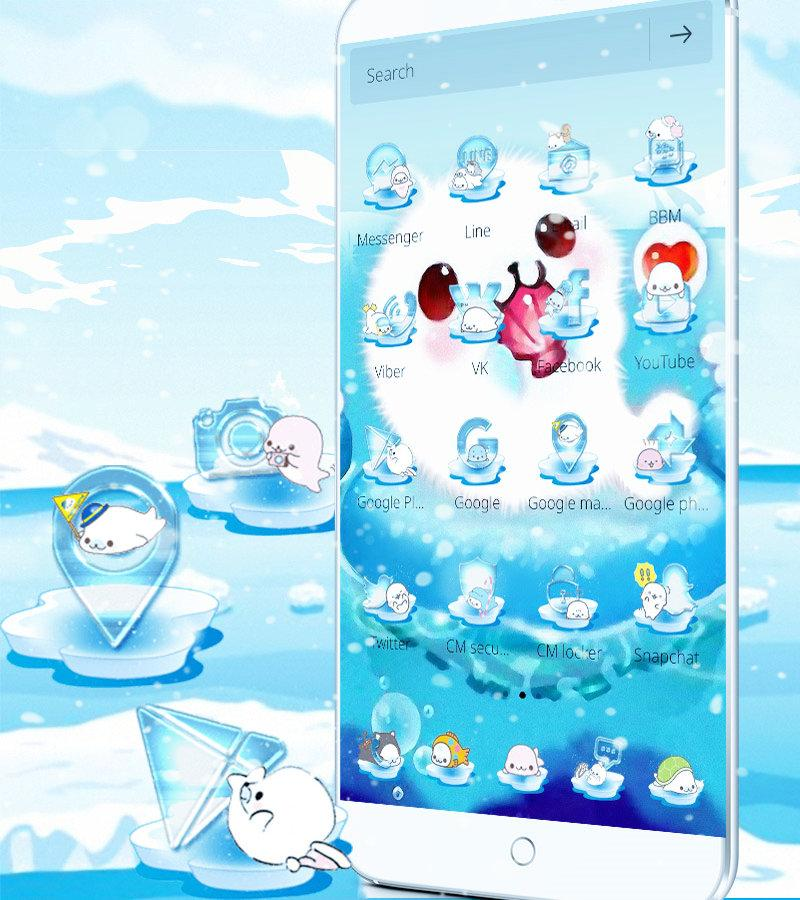 Aquarium Sea Seals Theme Wallpaper- screenshot