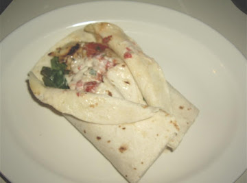 Spinach Chicken Wraps Recipe