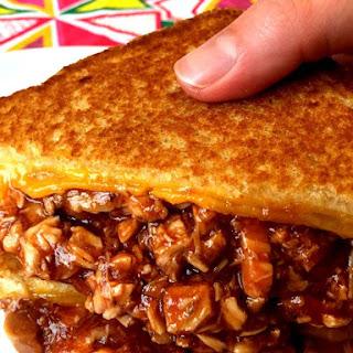 BBQ Chicken Grilled Cheese Sandwich.
